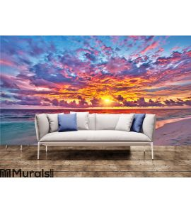Sunset over ocean Wall Mural Wall art Wall decor