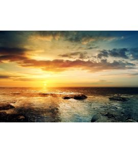 Sunset over ocean 3 Wall Mural Wall art Wall decor