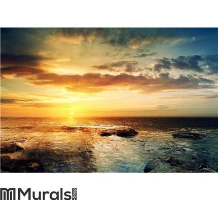 Sunset over ocean 3 Wall Mural Wall art Wall decor