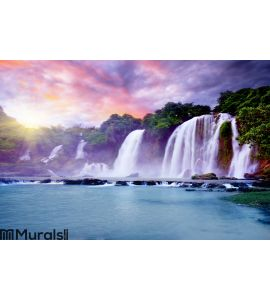 Banyue waterfall Wall Mural