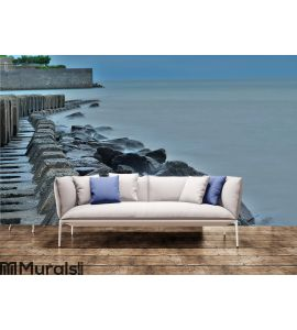 Calm Pacific Coast in Japan Wall Mural Wall Tapestry tapestries