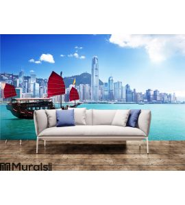 Hong Kong harbour Wall Mural Wall art Wall decor