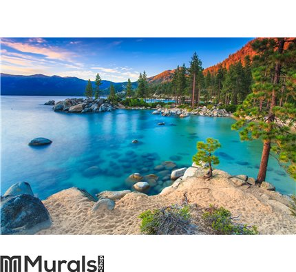 Lake Tahoe at sunset Wall Mural Wall art Wall decor