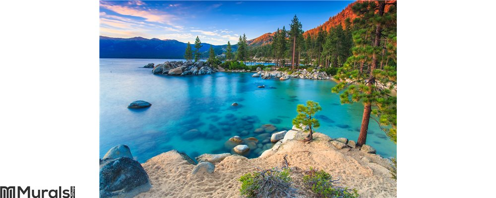 Lake Tahoe at sunset Wall Mural