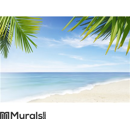 Lonely beach Wall Mural Wall art Wall decor