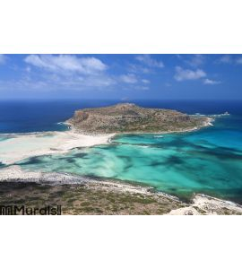 Balos beach at Crete island in Greece Wall Mural