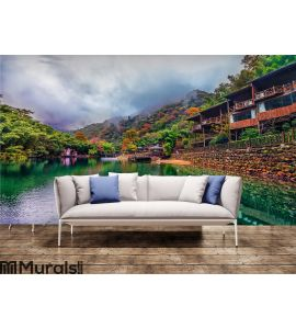 Small village Wall Mural Wall art Wall decor