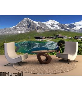 Swiss Alps Landscape Wall Mural Wall art Wall decor