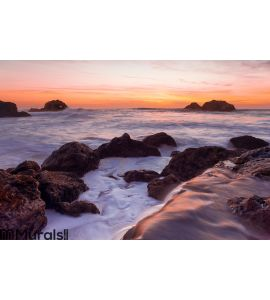 Pacific Ocean Sunset Wall Mural Wall art Wall decor