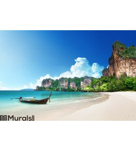Railay beach in Krabi Thailand Wall Mural