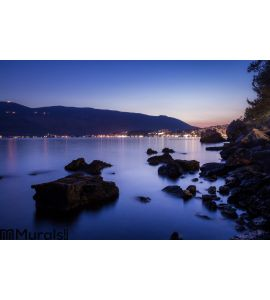 Rocks and Calm Sea Wall Mural
