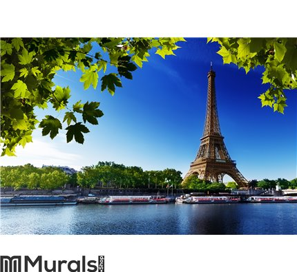 Seine In Paris With Eiffel Tower Wall Mural Part 63