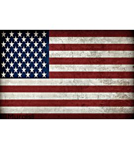 Rustic American Flag Wall Mural Wall art Wall decor