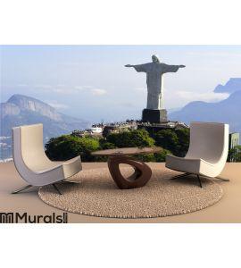 Air view cristo redentor - Rio De Janeiro - Brazil Wall Mural Wall art Wall decor