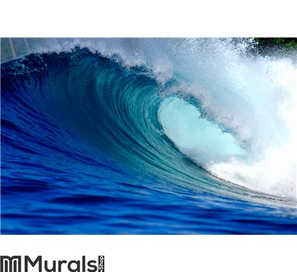 Blue surfing wave Wall Mural Wall art Wall decor