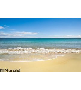 Perfect beach in summer with clean sand Wall Mural