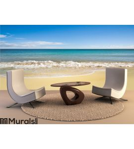 Perfect beach in summer with clean sand Wall Mural Wall Tapestry tapestries