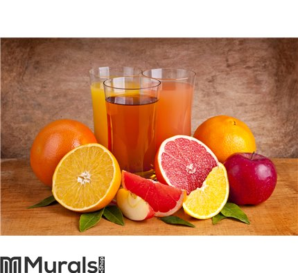 Fresh juice and fruits Wall Mural Wall Tapestry tapestries