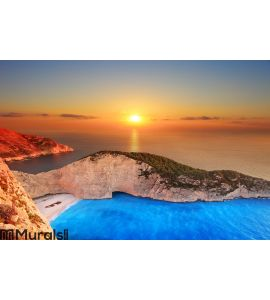 Sunset over Zakynthos Wall Mural