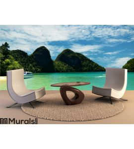Travel to tropical Island Wall Mural