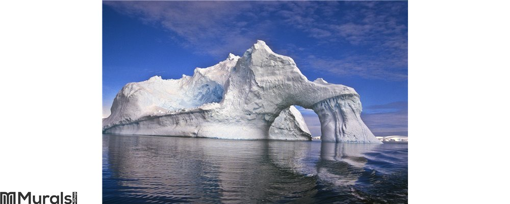Iceberg with an Arch, Antarctica Wall Mural