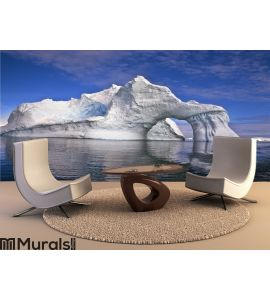 Iceberg with an Arch, Antarctica Wall Mural Wall Tapestry tapestries