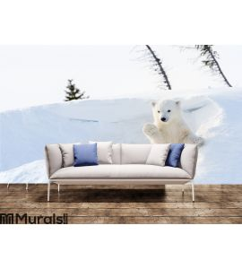 Polar bear Wall Mural Wall Tapestry tapestries