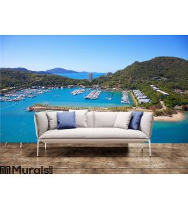 Aerial Hamilton Island landscape Wall Mural Wall Tapestry tapestries