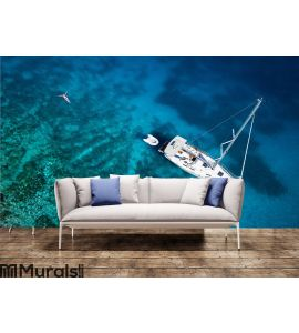 Amazing view to yacht Wall Mural Wall Tapestry tapestries