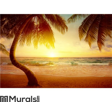 Art Beautiful sunrise over the tropical beach Wall Mural Wall Tapestry tapestries