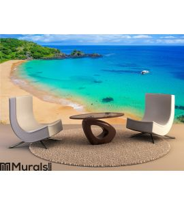 Beach in Brazil with a colorful sea Wall Mural Wall Tapestry tapestries