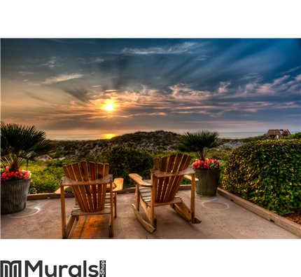 Easy Chairs at Sunrise on Amelia Wall Mural Wall art Wall decor