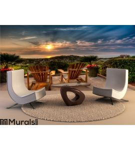 Easy Chairs at Sunrise on Amelia Wall Mural