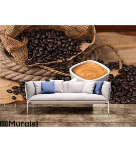 Espresso and Coffee Beans Wall Mural Wall art Wall decor