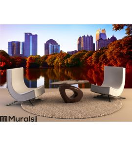 Fall sunset in midtown Atlanta Wall Mural Wall art Wall decor