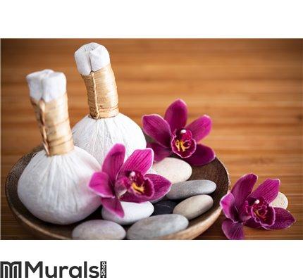 Herbal massage compresses Wall Mural Wall art Wall decor