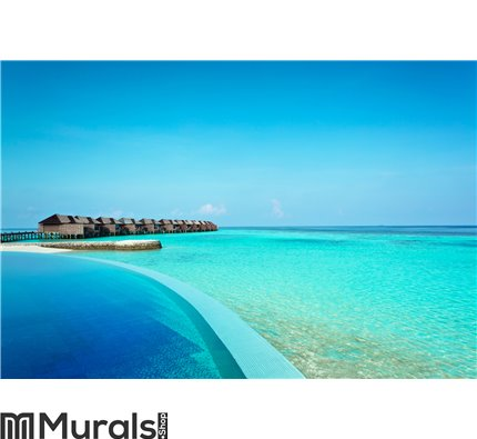 Luxury resort in the Indian Ocean Wall Mural Wall art Wall decor