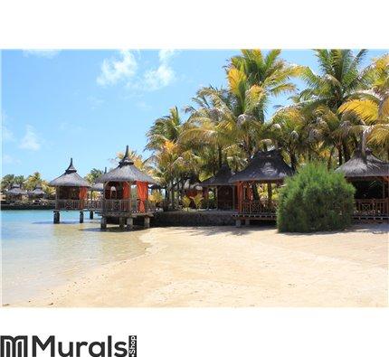 Mauritius Beach Huts Wall Mural Wall art Wall decor