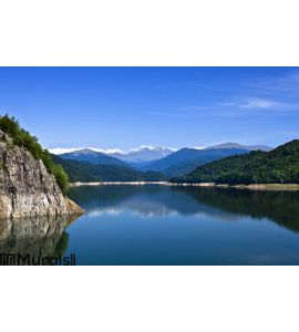 Mountains and lake Wall Mural