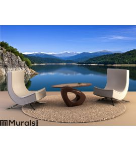 Mountains and lake Wall Mural Wall art Wall decor