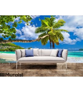 Peaceful Seychelles islands Wall Mural