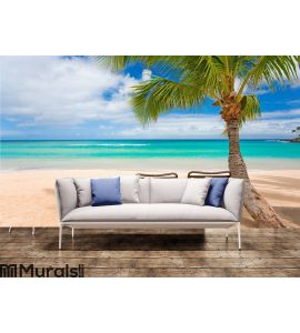 Romantic beach two chairs Wall Mural Wall art Wall decor