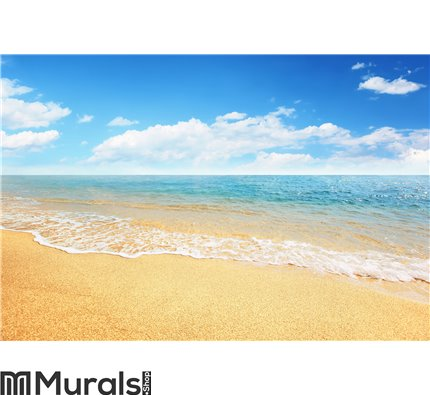 Sand beach and tropical sea Wall Mural Wall art Wall decor