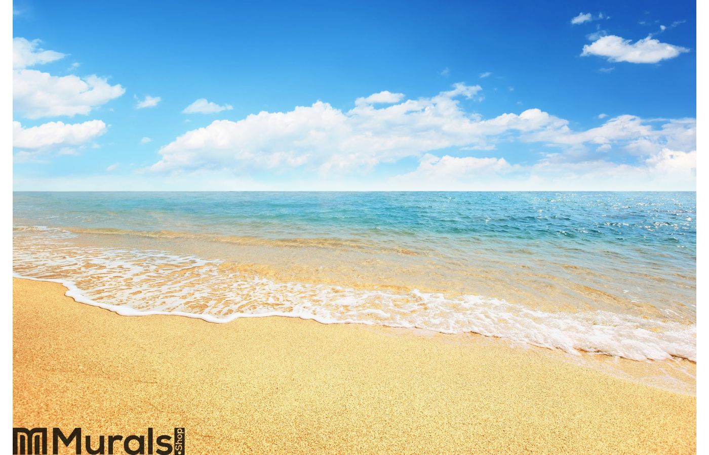 Sand Beach And Tropical Sea Wall Mural