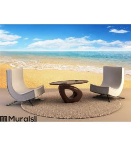 Sand beach and tropical sea Wall Mural