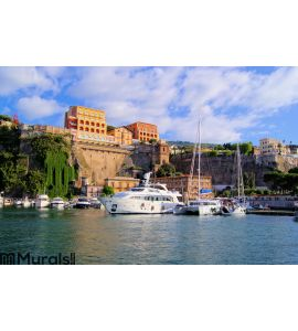 Sorrento harbor italy city Wall Mural