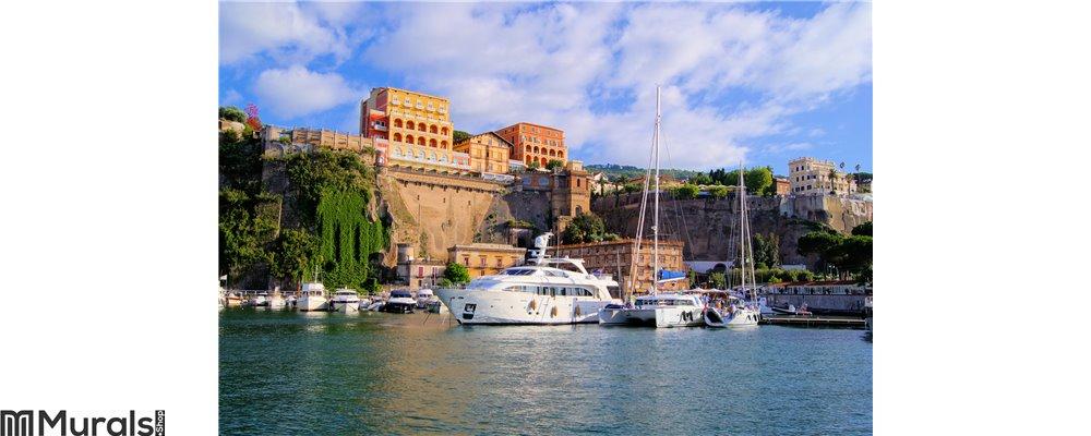 Sorrento harbor italy city Wall Mural