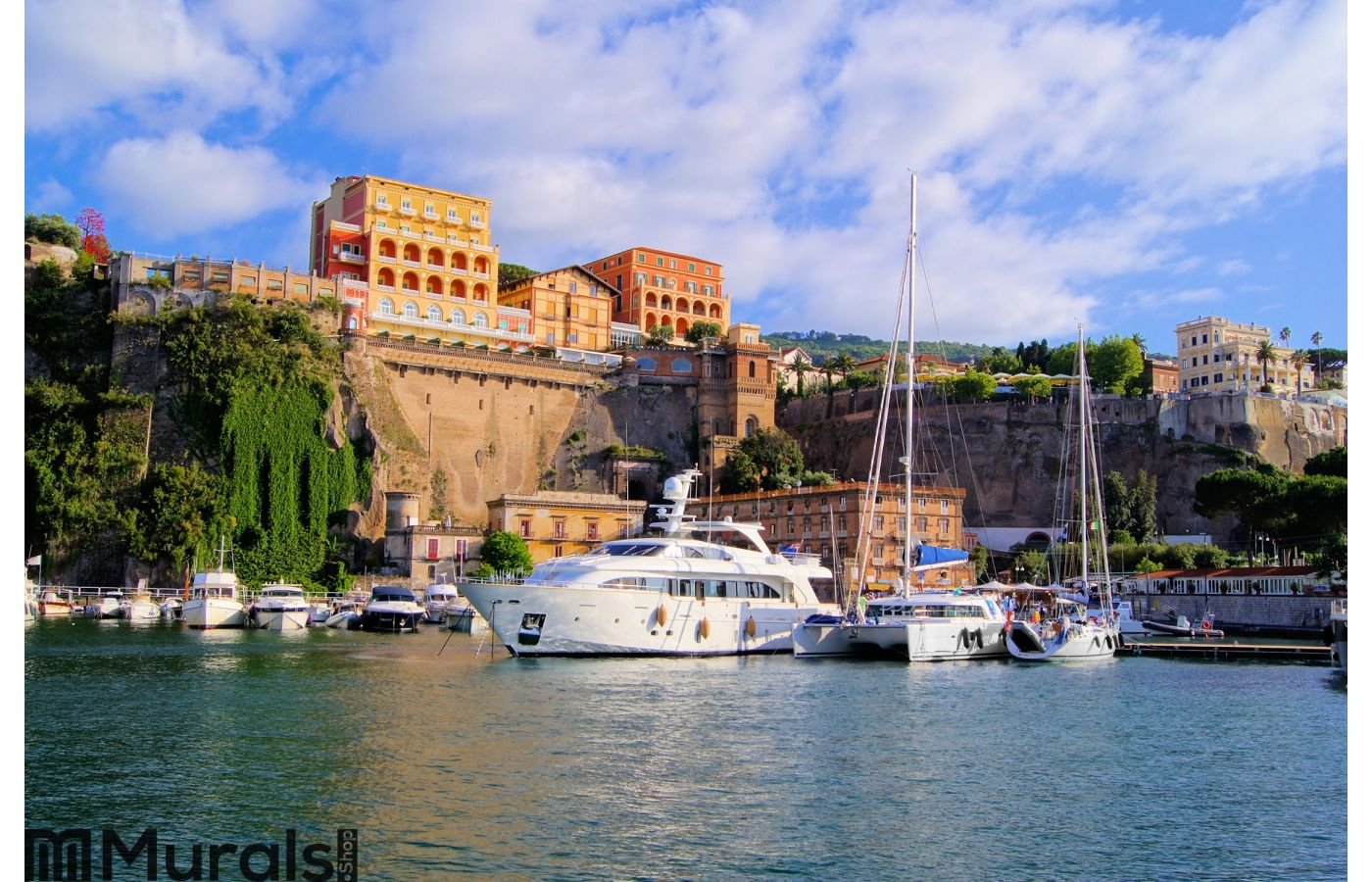 Sorrento harbor italy city wall mural for City wall mural
