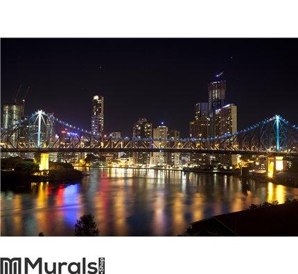 Story Bridge and Brisbane City center Wall Mural Wall art Wall decor