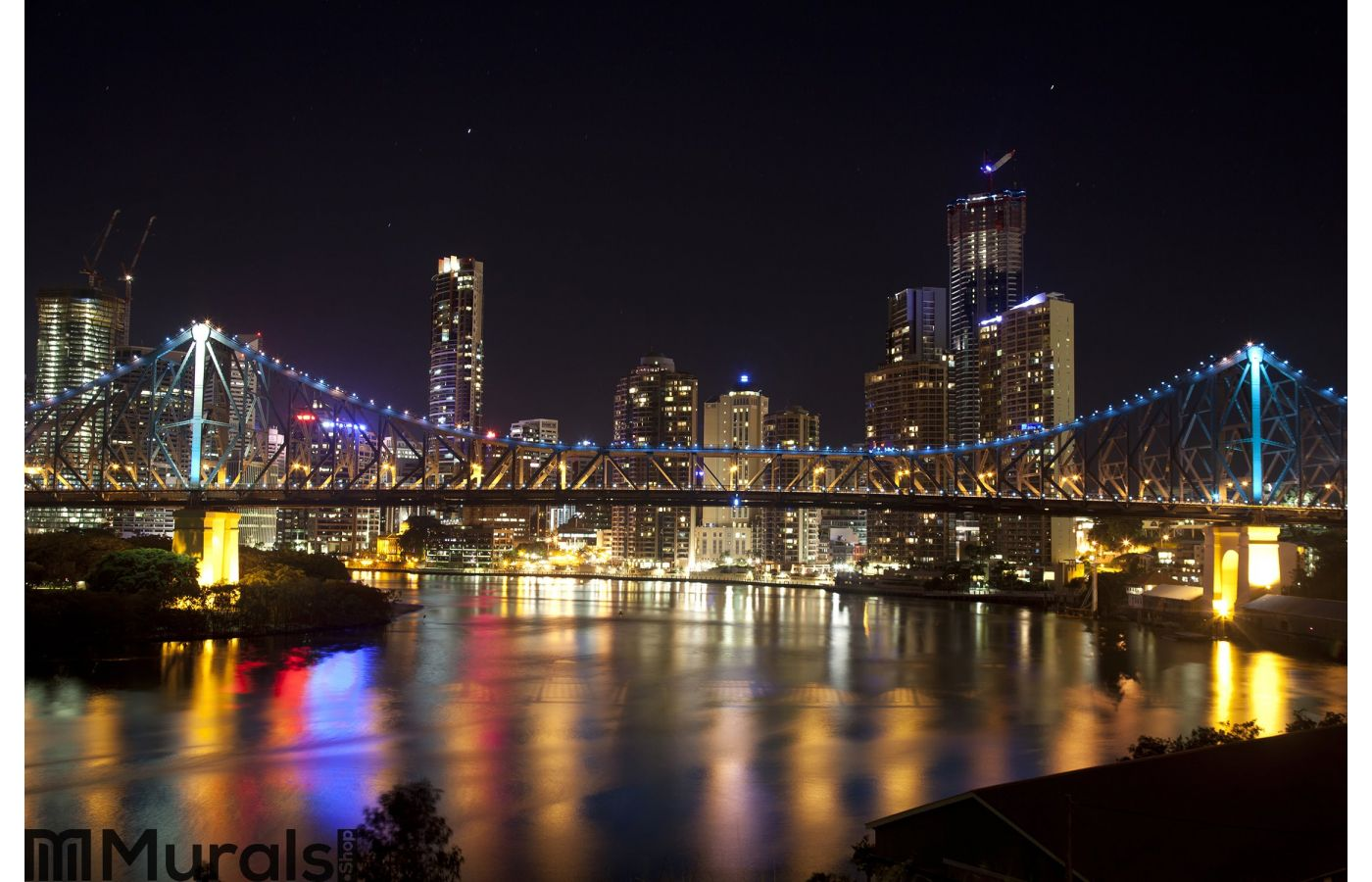 Story Bridge And Brisbane City Center Wall Mural